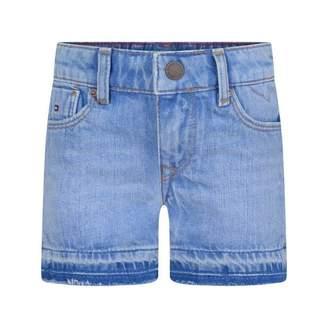 Tommy Hilfiger Tommy HilfigerGirls Blue Denim Slim Fit Nora Shorts