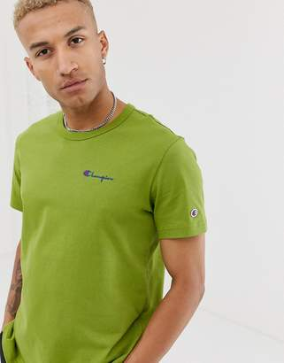 Champion small script logo t-shirt in green