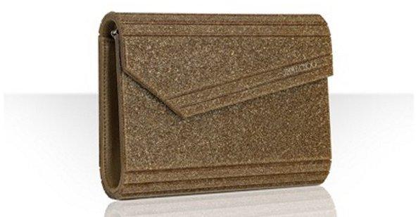 Jimmy Choo gold glitter resin 'Candy' convertible clutch