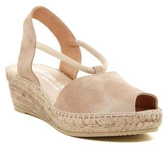 Andre Assous Dainty Peep Toe Espadrille Wedge Sandal