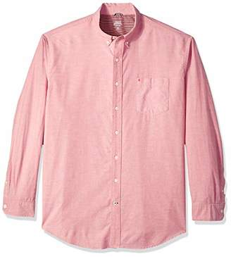 Izod Men's Newport Oxford Solid Long Sleeve Shirt (Big & Tall)