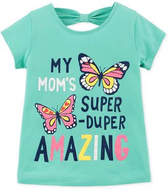 Carter's Toddler Girls Butterfly-Print Cotton T-Shirt