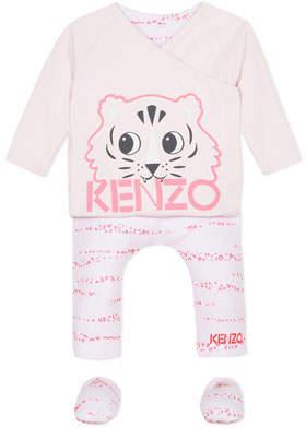 Kenzo Reversible Top w/ Matching Leggings & Booties, Size 3-9 Months