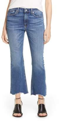Rag & Bone Hana Shark Bite Ripped Hem Jeans (Clean Doric)