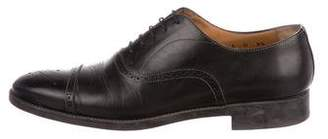 Santoni Leather Cap-Toe Brogues