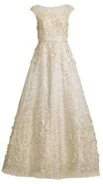 Basix II Black Label Embellished Floral Ball Gown