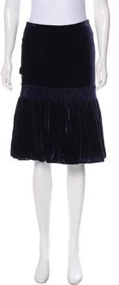 Giorgio Armani Velvet Knee-Length Skirt