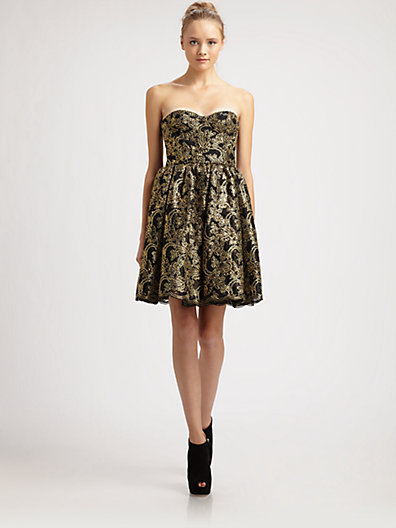 Alice + Olivia Caryn Bustier Dress