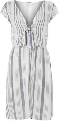 Dorothy Perkins Womens *Dp Beach Navy And White Stripe Knot Shift Dress