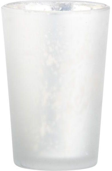 Crate & Barrel Splendid Silver Candleholder