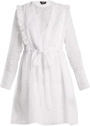 Calvin Klein Broderie-anglaise cotton-organza dress