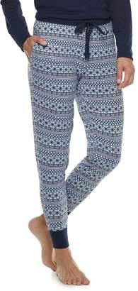 Croft & Barrow Women's Fairisle Jogger Pajama Pants