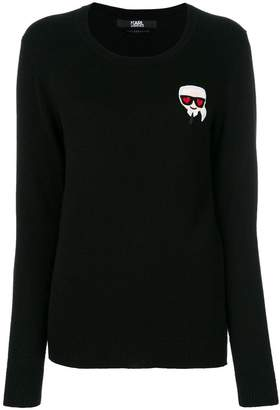 Karl Lagerfeld Love applique jumper