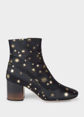 Paul Smith Womens Dark Navy Gold Star Jacquard Nira Boots