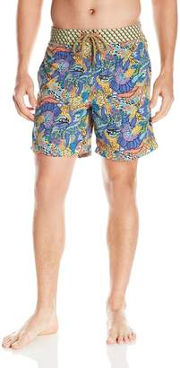 Maaji Men's 8 inch Tile Print E-Board Swim Trunk