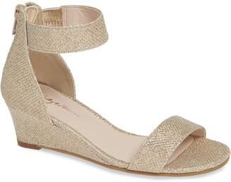 Ruby & Bloom Cora Glitter Wedge Sandal