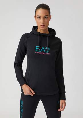 Emporio Armani Ea7 French Terry Training Sweatshirt With Hood