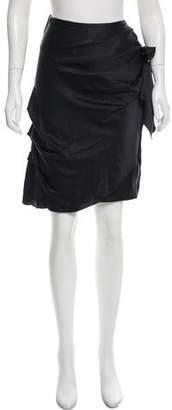 Chris Benz Silk Knee-Length Skirt