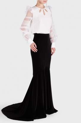 Andrew Gn Velvet Maxi Skirt