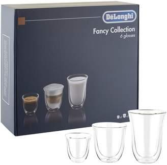 De'Longhi Fancy Collection Coffee Glasses (Set of 6)