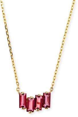 Suzanne Kalan KALAN by 14k Gold Pink Topaz Fireworks Necklace
