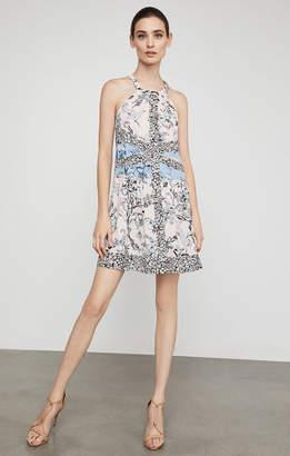 BCBGMAXAZRIA Sharlot Floral Print-Blocked Dress