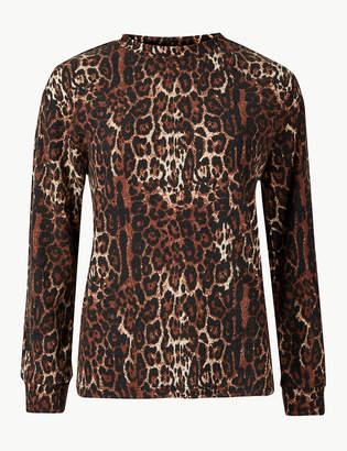 Marks and Spencer Animal Print Long Sleeve Sweatshirt