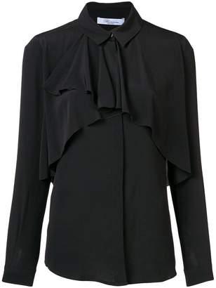 Blumarine ruffle long-sleeve blouse