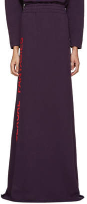 Vetements SSENSE Exclusive Purple Sexual Fantasies Skirt