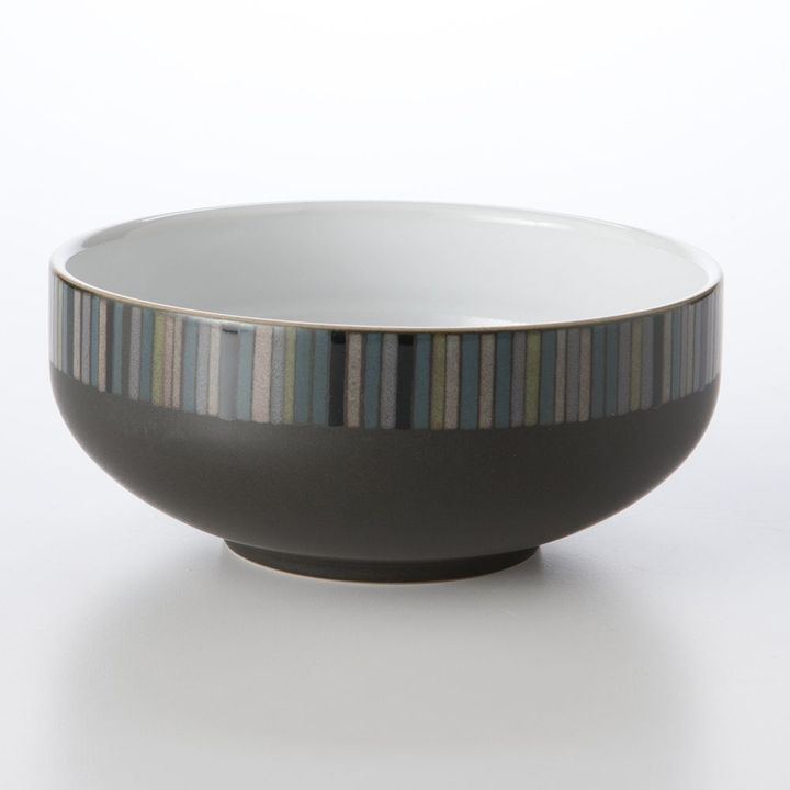 Denby jet stripes soup/cereal bowl