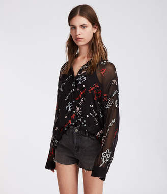 AllSaints Kyra Graff Shirt