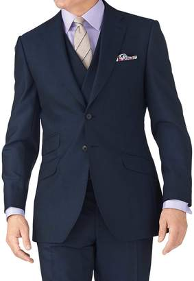 Blue Slim Fit British Panama Luxury Suit Wool Jacket Size 42 by Charles Tyrwhitt