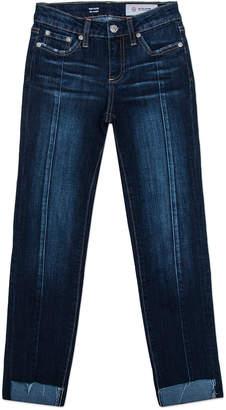 AG Jeans Maddie Step-Hem Straight-Leg Front-Seam Jeans, Size 7-14