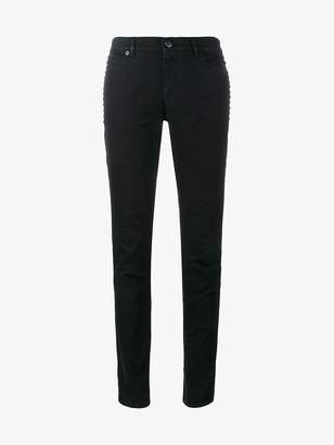 Valentino classic black mid rise skinny jeans