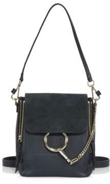 Chloé Small Faye Leather& Suede Mini Backpack