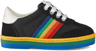 539440c0908 Gucci Toddler G74 sneaker with rainbow stripe