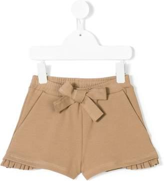 Caffe Caffe' D'orzo pleated trim shorts