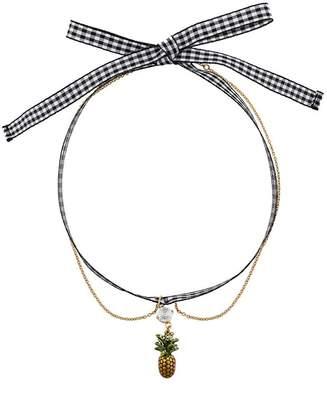 Miu Miu pineapple pendant necklace