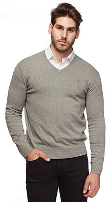 Polo Ralph Lauren Mens Pima Cotton V-Neck Sweater (Navybluepny , L)