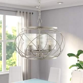 Brayden Studio Knap 3-Light Geometric Chandelier Brayden Studio