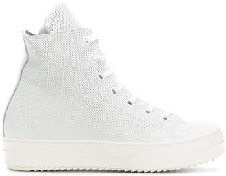 Les Hommes hi-top perforated sneakers