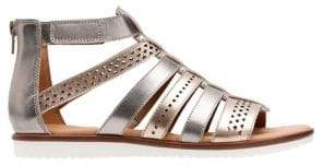 Clarks Kele Lotus Strappy Leather Sandals