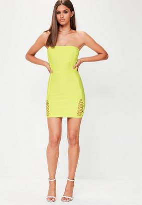 Missguided Green Premium Bandage Mini Dress