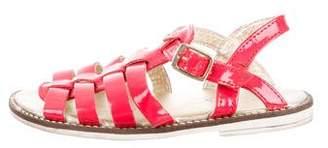 Armani Junior Girls' Logo-Embellished Gladiator Sandals