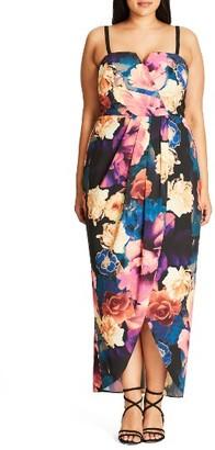 Plus Size Women's City Chic Secret Garden Maxi Dress $103.99 thestylecure.com