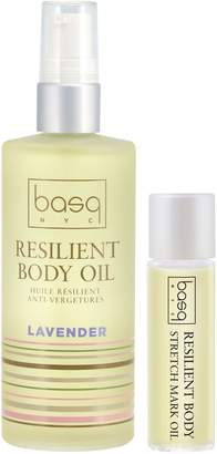 Basq NYC Lavender Resilient Body Stretch Mark Oil Duo