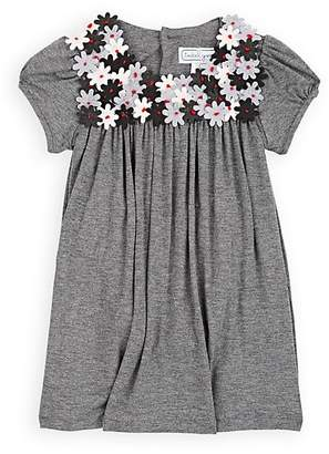 Isabel Garreton Infants' Flower-Embellished Stretch-Jersey Dress With Bloomers & Tights