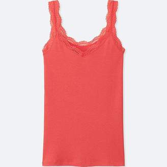 Uniqlo Women's 2 Way Ribbed Lace Tank Top