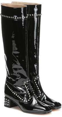 Maryam Nassir Zadeh Kiki patent leather knee-high boots