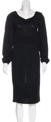 Givenchy Long Sleeve Midi Dress